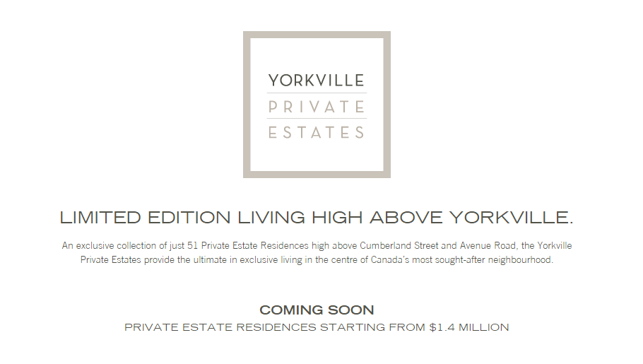 Yorkville Private Estates by Camrost-Felcorp
